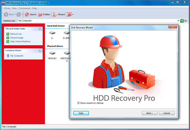 Recover data from corrupted hard drives