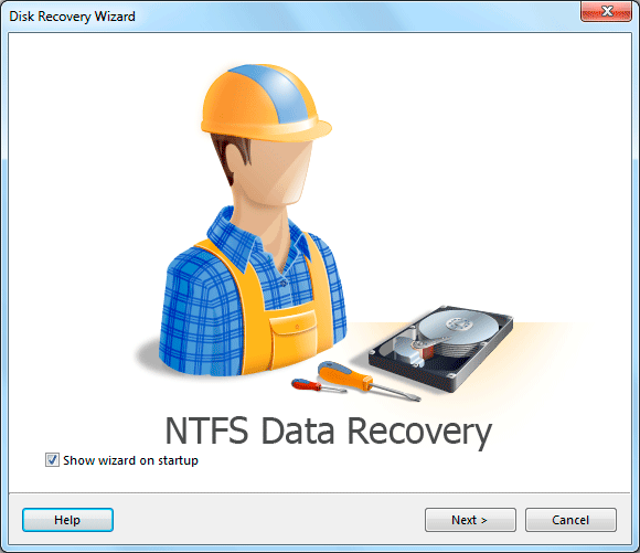 NTFS Data Recovery Screen